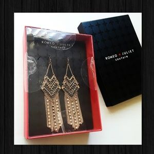 Romeo & Juliet Couture Dangle Rhinestone Earrings